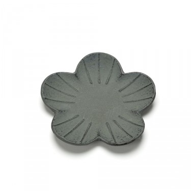 SAKURA, GREEN GRAY FLOWER SHAPED SAUCER
