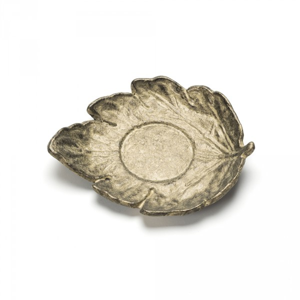 FEUILLE, GOLD LEAF SHAPED SAUCER