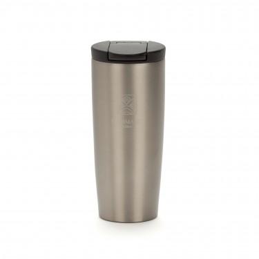 """""""NOMADE"""", isothermal pearl grey travel mug"""