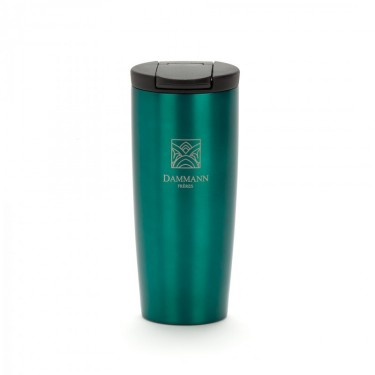 """NOMADE"", isothermal green travel mug"