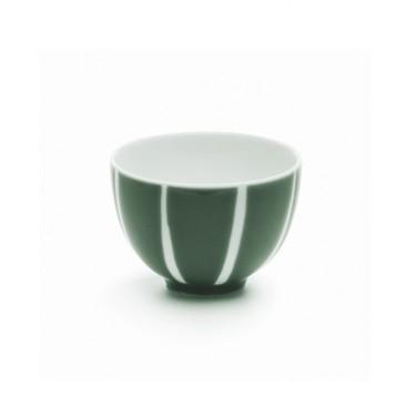 Dark green bowl with white stripes