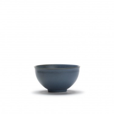 Kyoto - Japanese porcelain tea bowl - Grey blue