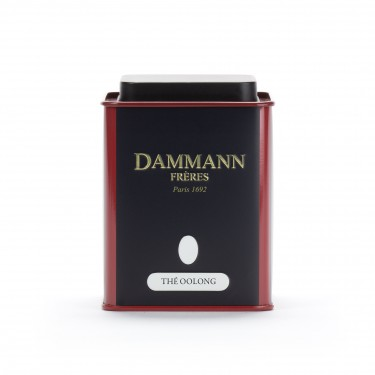 Empty Dammann Frères's canister 'Thé oolong'