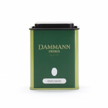 Empty Dammann Frères's canister 'Infusion'