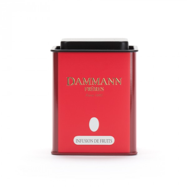 Empty Dammann Frères's canister 'Infusion de fruits'