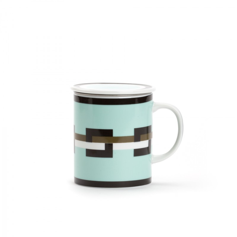 graphik mug vert d 39 eau avec filtre et couvercle. Black Bedroom Furniture Sets. Home Design Ideas