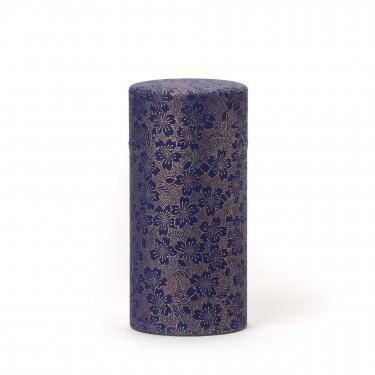 BLOOMING CHERRY, boîte à thé papier washi bleu 150G