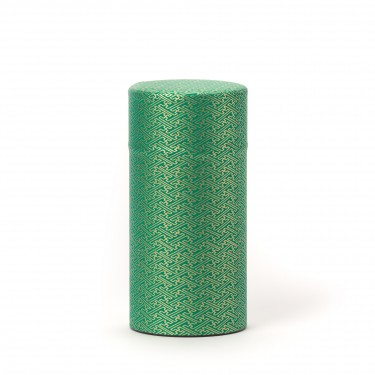 RIDO, green washi paper tea canister 150G