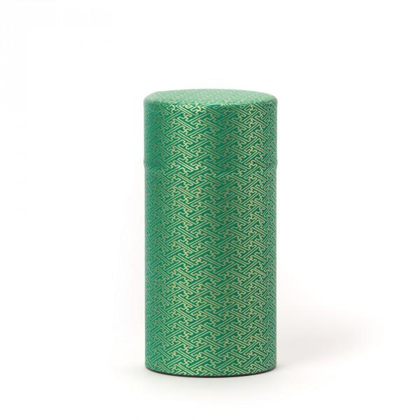 RIDO, green washi paper tea canister 150G