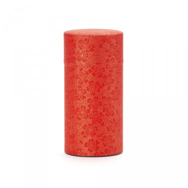 BLOOMING CHERRY, red washi paper tea canister 150g
