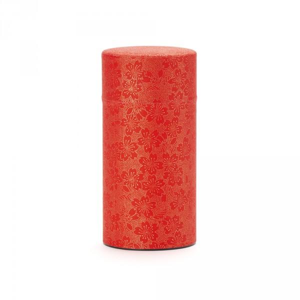 BLOOMING CHERRY, boîte à thé papier washi rouge 150G