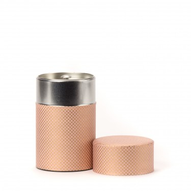 SHIKAKU, pink washi paper tea canister 100g