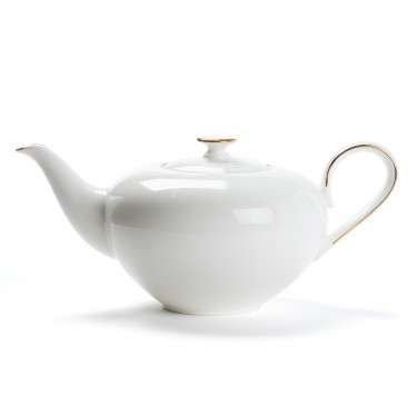 Porcelain teapot - CONCORDE - 1L - Golden border