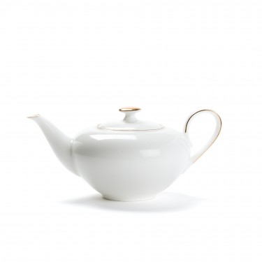 Porcelain teapot - CONCORDE - 0,4L - Golden border