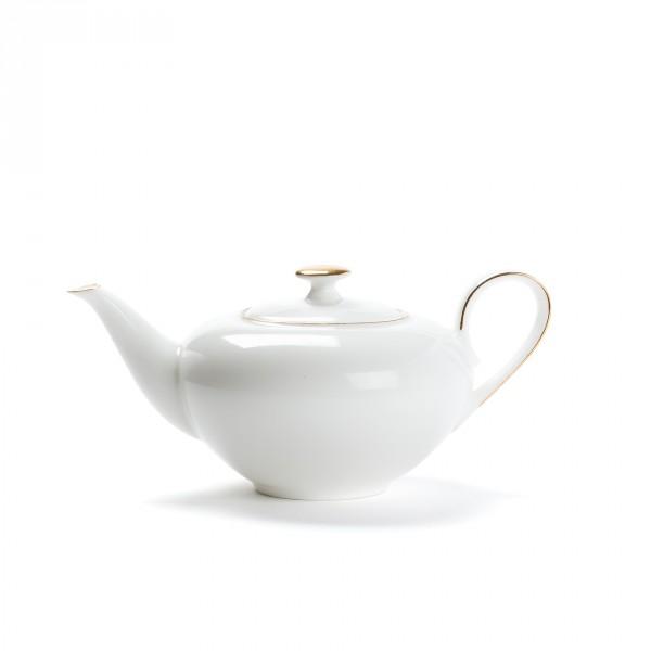 Porcelain teapot - CONCORDE - 0,4L - Golden border