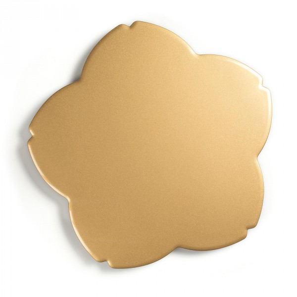 Plateau plat de présentation - or