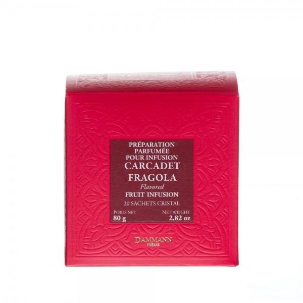Fruit infusion - Carcadet Fragola, box of 20 Cristal®sachets