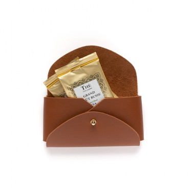 DAMMANN FRÈRES CAMEL TEA BAGS TRAVEL HOLDER