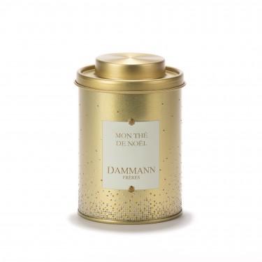 Empty Dammann Frères's canister - Mon thé de Noël