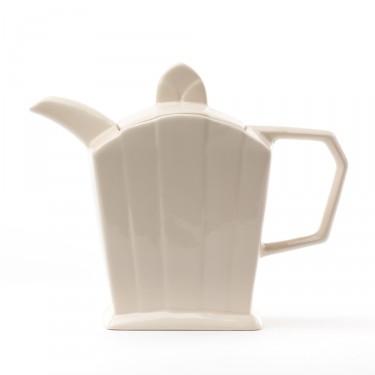 Ceramic teapot - ''Art Déco'' ivory