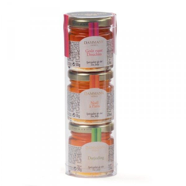 Tube de 3 mini-pots de spécialités au thé