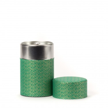 RIDO, green washi paper tea canister 100G