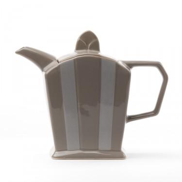 Ceramic teapot - ''Art Déco'' brown grey