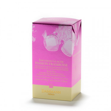 PASSION FRAMBOISE Fruit Infusion, box of 6 sachets for iced fruit infusion