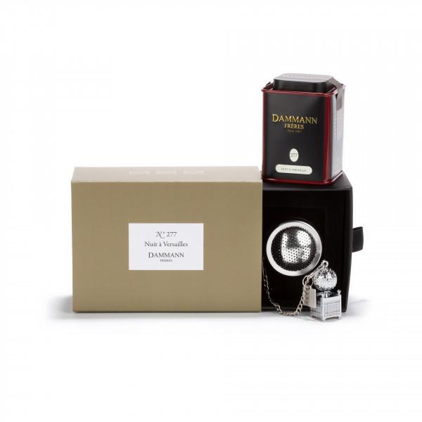 COFFRET N° 277, coffret 1 boîte de thé Nuit à Versailles et 1 infuseur