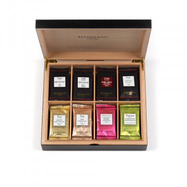48 Crsital® tea bags in wooden chest (assorted teas and herbal teas)
