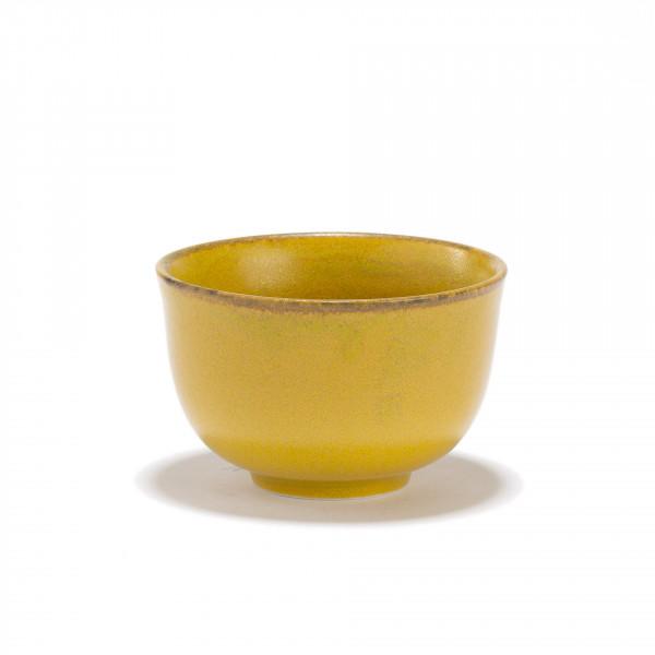 KIIRO - yellow porcelain tea bowl