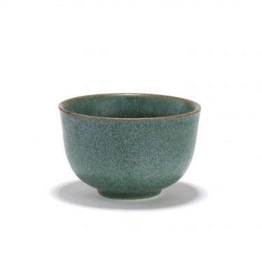GURIN - green porcelain tea bowl