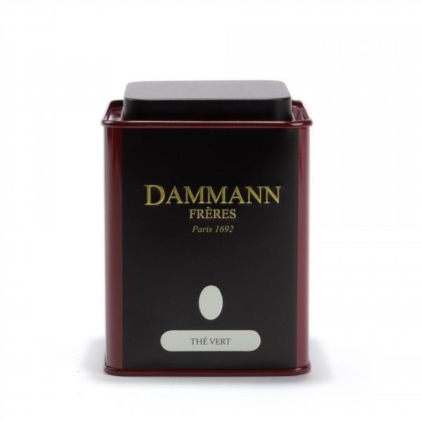 Empty Dammann Frères's canister 'Thé vert'