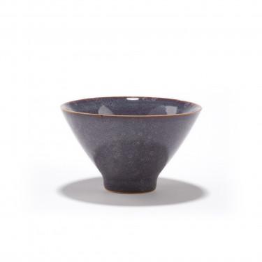 SICHUAN - purple-blue stoneware tea bowl 12CL