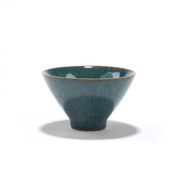 SICHUAN - green ceramic tea bowl 12CL