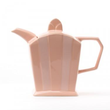 Ceramic teapot - ''Art Déco'' pake pink