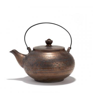 Théière porcelaine - CHEONGDONG - 0,8L - patine bronze