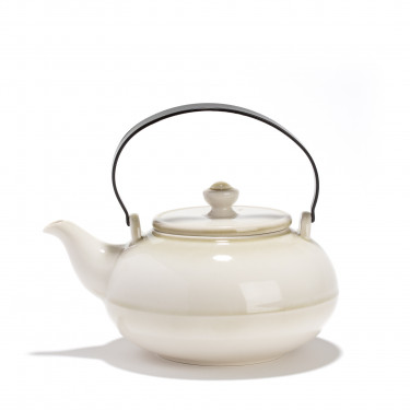 Porcelain teapot - GONGJANG - 0,8L - Vegetal finish