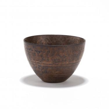 CHEONGDONG - porcelain tea bowl 12cl - bronze finish