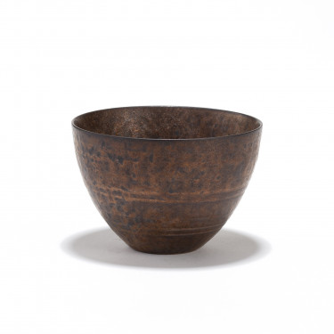 CHEONGDONG - porcelain tea bowl 12cl - bronze finish
