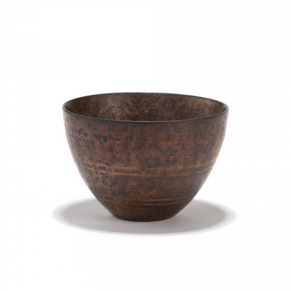 CHEONGDONG - stoneware tea bowl 12cl - bronze finish