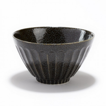 OHACHI - porcelain black jumbo bowl