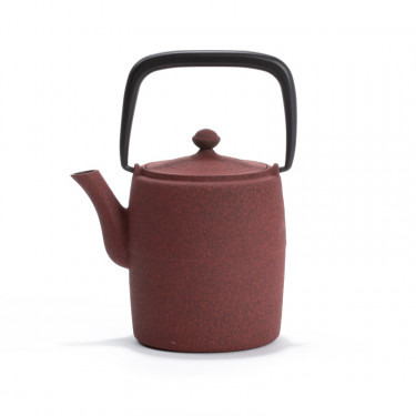 Japanese cast iron teapot - WABI 0,6L - red