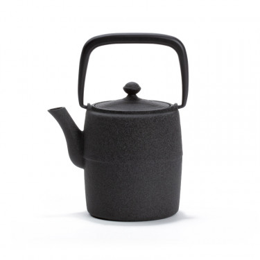 Japanese cast iron teapot - WABI 0,6L - grey