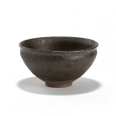 SAGAN' MATCHA TEA BOWL - BLACK METALLIC