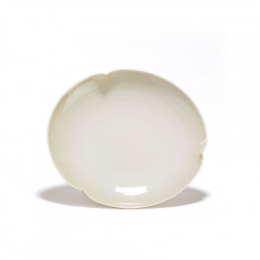 GONGJANG -  porcelain saucer - vegetal finish