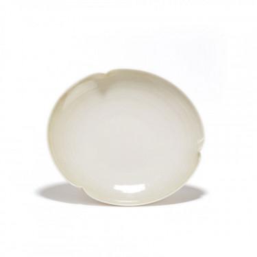 GONGJANG - soucoupe porcelaine - patine végétale