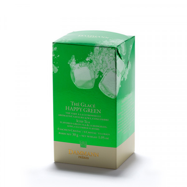 Happy Green - box of 6 sachets for iced tea infusion