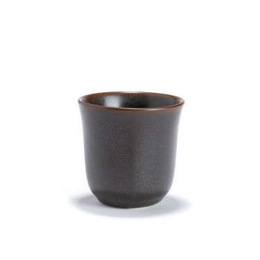 KURO - Bol à thé gris foncé en porcelaine