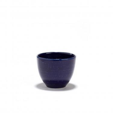 AOI - Bol à thé porcelaine bleu de four